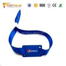 Access control id woven rfid wristband, tag213 nfc disposable fabric bracelet