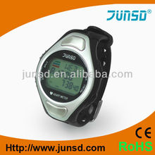 Professional fitness pulse watch heart rate monitor with conductive pads