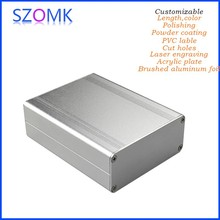 "High quality aluminium enclosure,custommetal processing project box enclosure case 110 (H)x88(W)x38(L)mm 1.5 "" x 3.46 "" x"