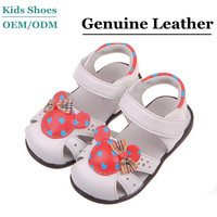 2014 Genuine Leather Baby Sandals Kid's Close Toe Sandals Shoes Fancy Sandal for Girls