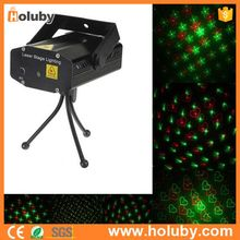 Cheap Black LED Mini Stage Light RG Color Laser Projecter Voice-activated Spotlight Sound/Music Active DJ Equipment