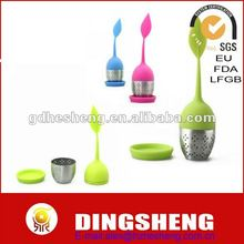 Silicone Tea Dipper With Coaster / Cup Lid