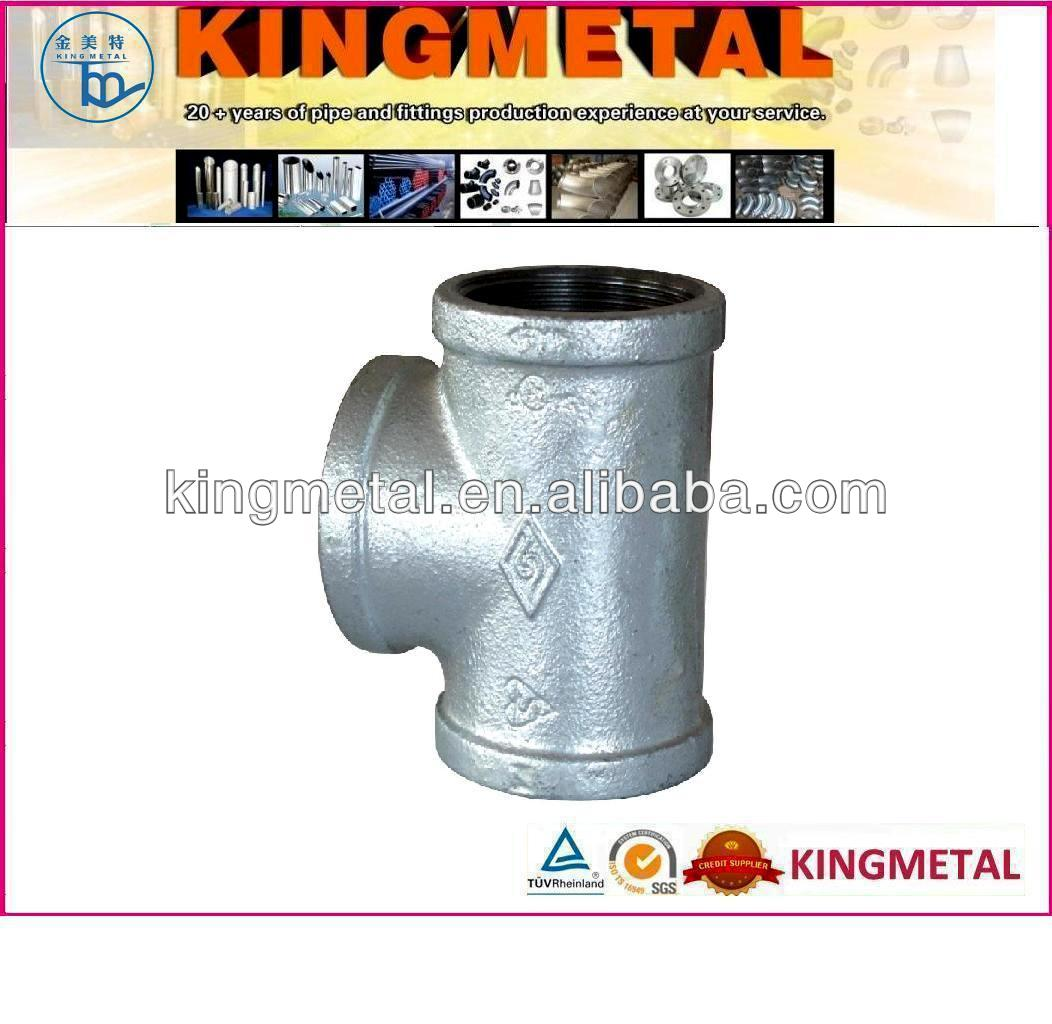 Hot Dipped Galvanized/black Malleable iron Pipe Fitting/elbow/tee