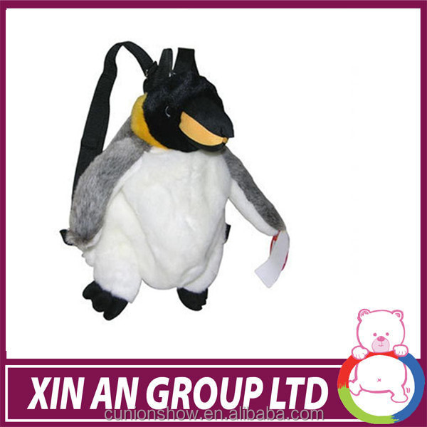 ICTI and Sedex audit custom design EN71 2015 new penguin cute Plush Backpacks