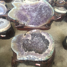 Wholesale natural agate geode quartz crystal geode cornucopia