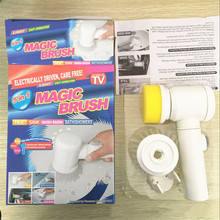 Hot TV Show Products Electric Multi-function Magic Nylon Bathtub Brush 5 in 1 Bath Kitchen Cleaning Brush Household Tools CA5877
