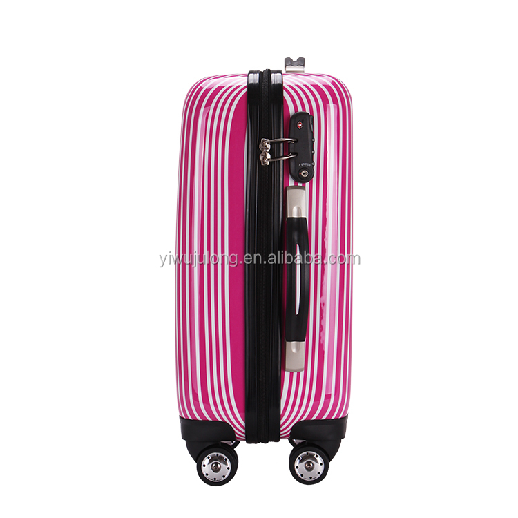 Trade assurance 4 aircraft wheels zipper hard-shell colorful ABS trolley travel luggage