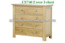 2 over 3 drawers of chest/solid oak chest/bedroom furniture