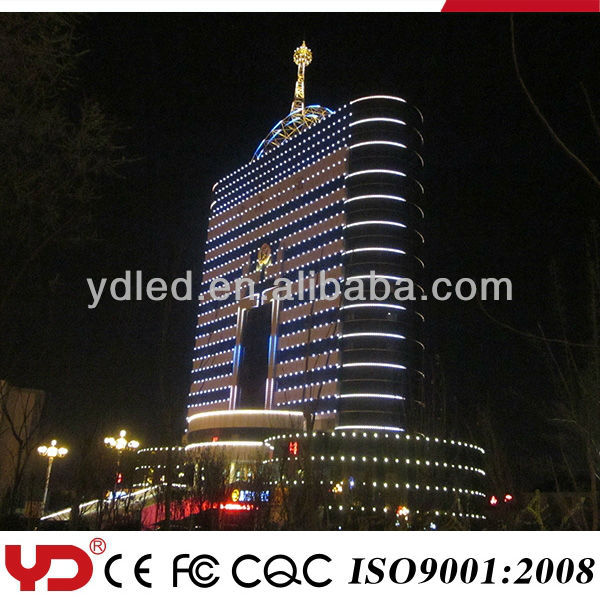 YD exterior professional wall curtain mounted led pixel dot light