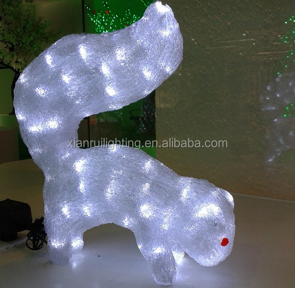CE/ROHS/UL Outdoor attractive 3D acrylic led lighted holiday decor magic outdoor christmas lighted dog decorations