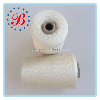 China Supplier 100% Pure Spun Silk Yarn 60NM/2 General Grade Raw White for Knitting and Weaving