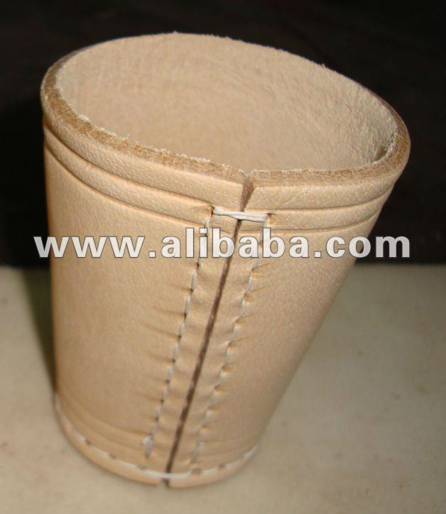 Leather Dice Cup in Natural Color