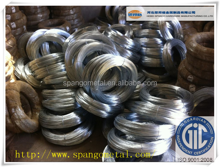 Galvanized steel wire for fish net Gauge 18 & 19
