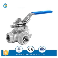 3pc stainless steel key lock ball valve factory supply