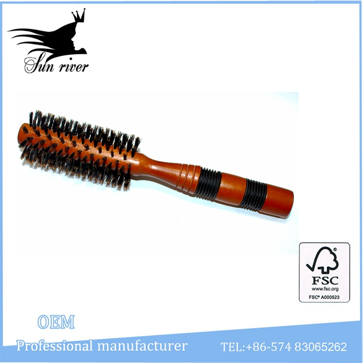 New style of wooden round professional salon brush