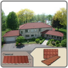 Jinhu Brand Economical Stone Coated Classic Sheet Metal Roofing Tile alloy steel roof tile