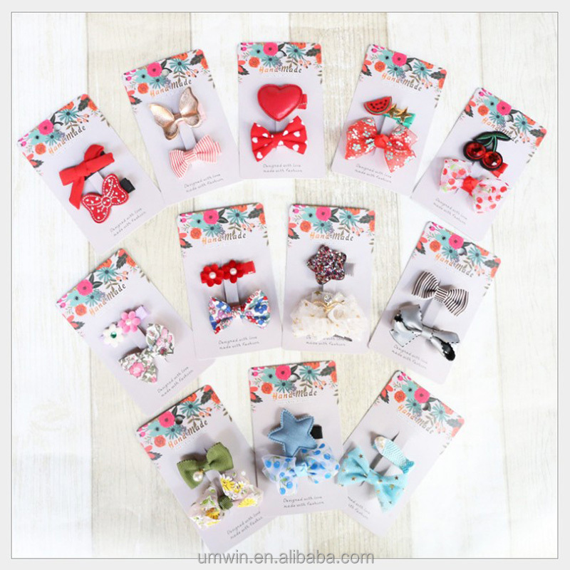 Kids Lovely Spring &Summer New Style Hairpin Baby Cute All Wrapped Cloth Hair Accessory HC116