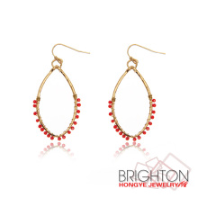 Cheap Jewelry Red Bead Earrings E3-6540-2302