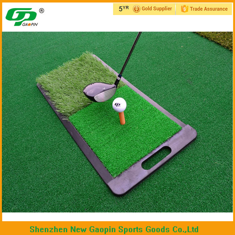 Dual-Surface Hitting Practice, Chipping and Driving Golf Grass Mat with Fairway and Rough Surfaces