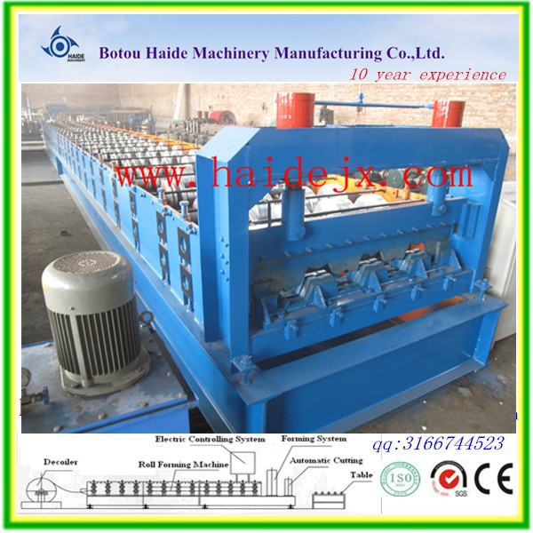ce certificated roof tile floor tile rolling color steel floor deck roll forming machine