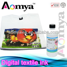 Promotion season ~ Aomya high quality textile ink print on summer t-shirt washing resistance