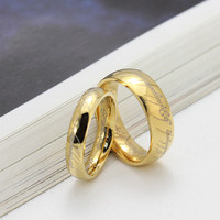 stainless steel Lord of the Rings gold ring designs for men (R2-A0048)
