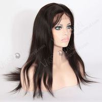 Indian remy hair invisible parting natural scalp silk base full lace wig