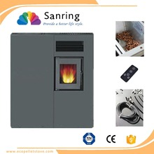 Secondary combustion/smokeless smokeless fireplace, thermo pellet stove china
