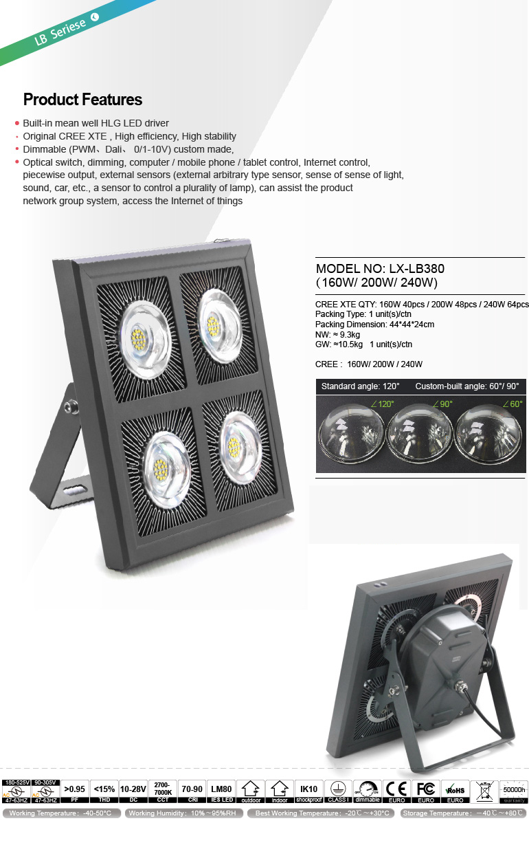 Golden supplier 5 years ip66 long-distance portable led flood light