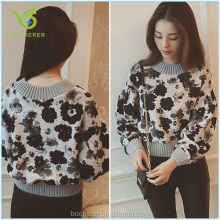 New Arrival fashion flower printing blouse