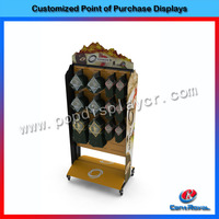 Custom pop supermarket flooring boxing gloves display stand