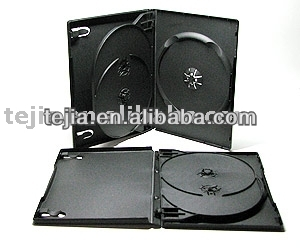 PP 14mm black dvd multiple case for 3 discs wholesale in 2014