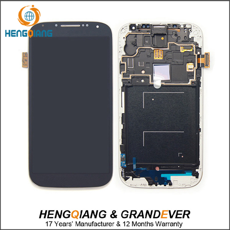 Full screen LCD +touch screen for samsung s4 i9505 digitizer assembly with frame