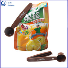 Plastic Food Bag Sealing Clips Coffee Spoon with Clip