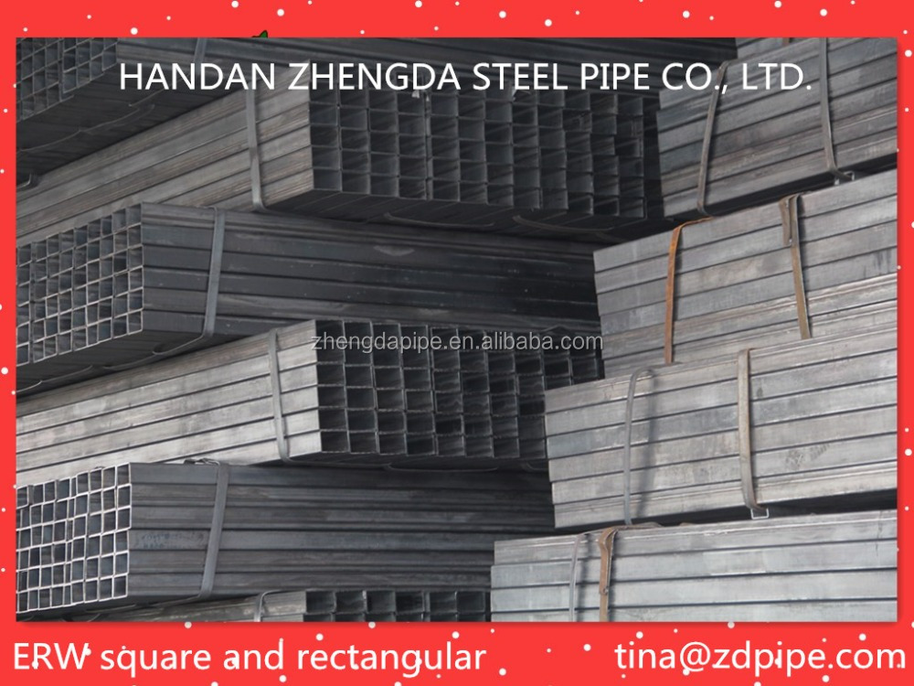 ASTM A53 structure steel pipe/square and rectangular hollow section tubes