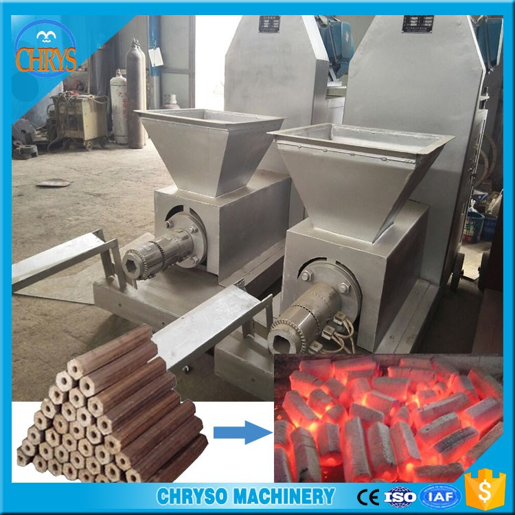 Diesel engine briquette machine/wood chip briquette making machine/Sawdust briquette charcoal