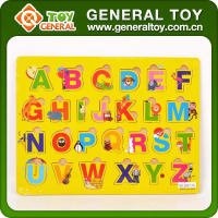 Educational Wooden Alphabet Puzzle Toy Letter Wooden Puzzle