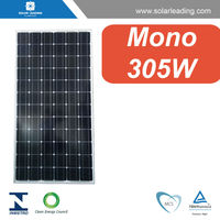 High efficiency 305w flat solar panel with buy solar cells bulk for solar energy home system on grid