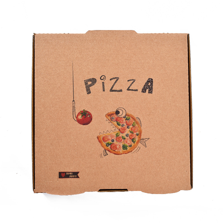 Customized kraft pizza boxes wholesale