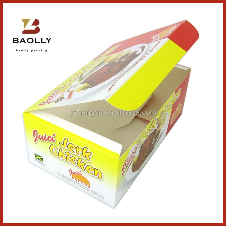 Professional fried chicken box takeaway food packaging