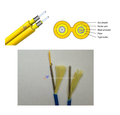 2 core Kavlar LSZH armoured jumper fiber optic cable