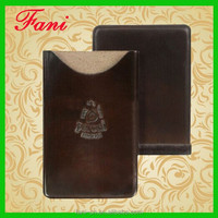 Guangzhou Fani genuine leather card case/ Embossed business card case/Leather card holder wallet