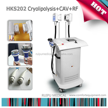 Vertical Cryotherapy Freezing & Ultrasonic Cavitation & RF Wrinkle Removal Beauty Device with 2 Cryo heads