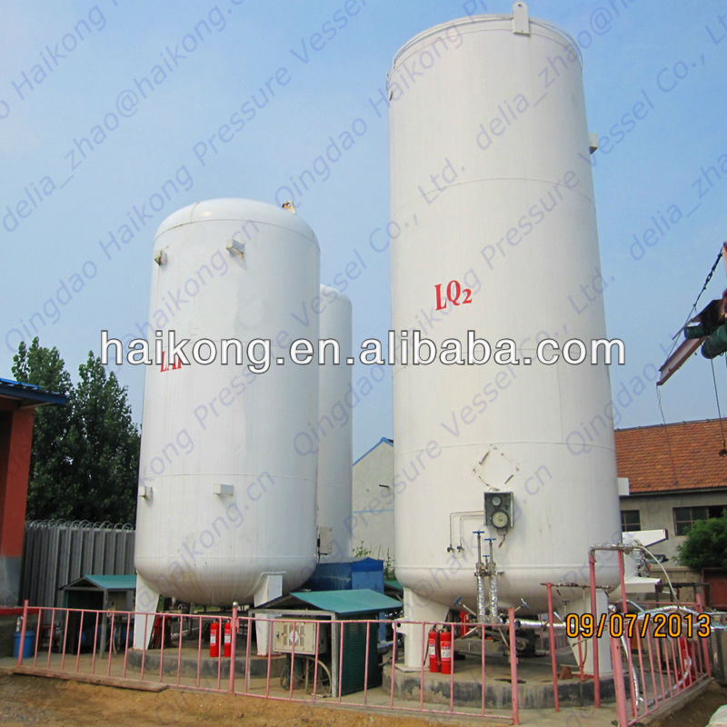 10cubic meter and 0.8Mpa vertical Liquid Argon(LAr) Cryogenic Tank