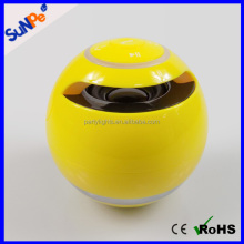 Large sound subwoofer round ball shape bluetooth speaker with FM radio made in China