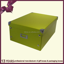 Elegant Foldable Paper Storage Box for Home and Office Use