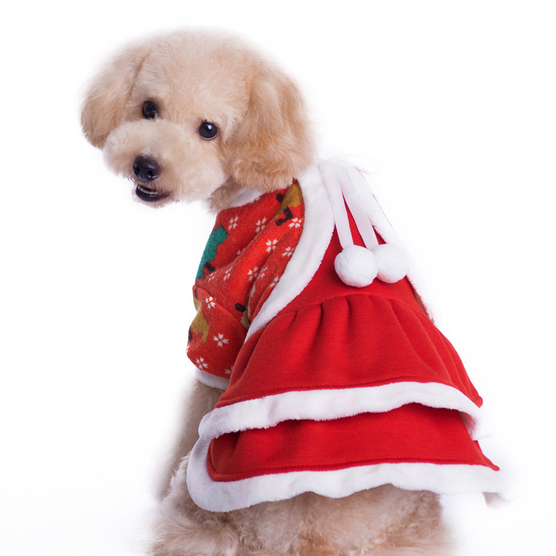Buy Pet Dog Dress Winter Party Christmas clothing Robe Chien Shih ...