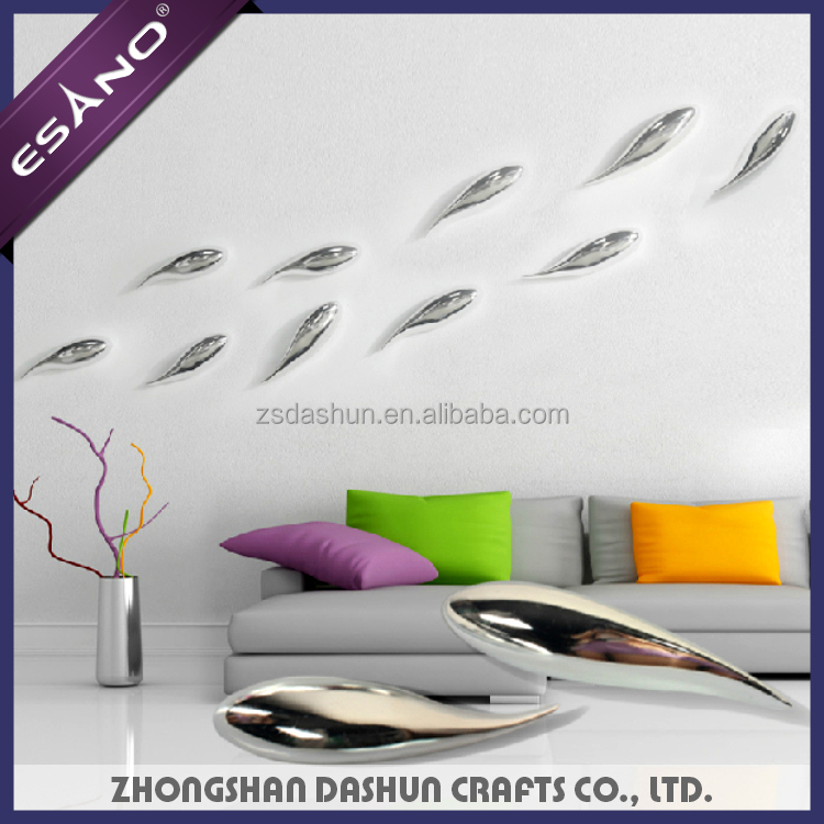 Modern art 3D wall decor wall art craft hanging decor relief resin crafts of fishes