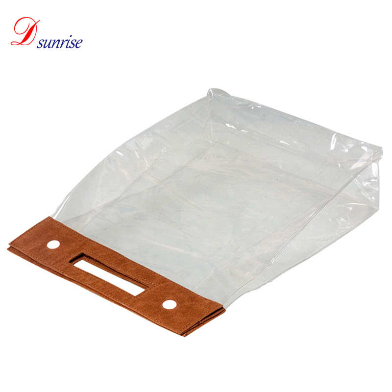 Transparent cosmetic bag fold up pvc cosmetic bag