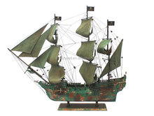 Wooden pirate ship model caribbean of the pirate